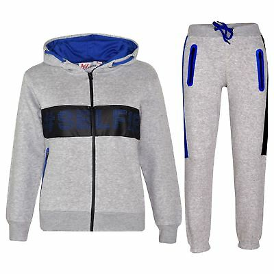 Kids Boys Girls Tracksuit Designer #Selfie Zipped Top Bottom Jogging Suit 5-13Yr