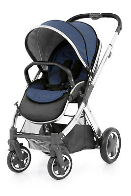 Oyster 2 Stroller & Colour Pack, Silver Chassis Oxford Blue BNIB Pushchair
