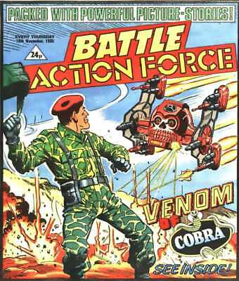 Battle Action Force Comic #111 rare 16th Nov 1985 UK GI Joe IPC Magazine Bargain