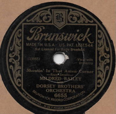 """78er Jazz vocal Depression Era Mildred Bailey & Dorsey Brothers Orch. """"Snowball"""""""