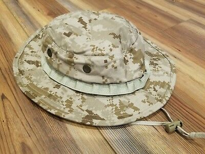 NWU Type II AOR1 Boonie Hat ~ Cover Ex Large (XL) Navy SEAL Issued NSW Desert NR