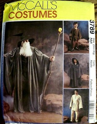 McCall's UNCUT Adult Medieval Merlin Wizard Costume Pattern Sizes Small-XLarge