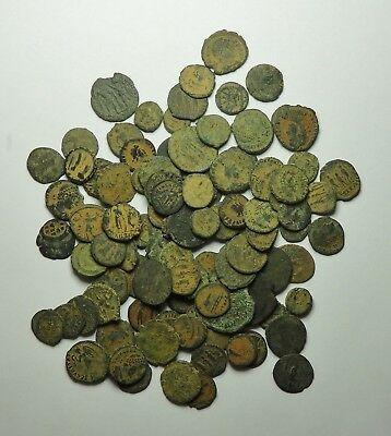 100 Small As Found Low Grade Roman Bronze Coins (850F)