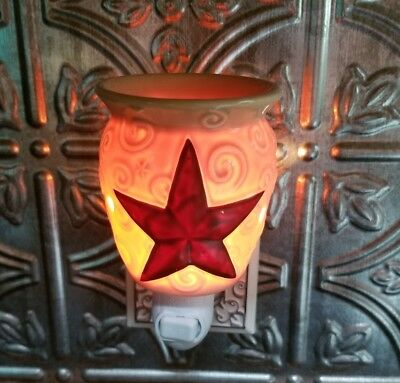 SCENTSY Plug In Warmer RUSTIC STAR Night Light