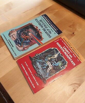 dungeons and dragons adventure game books tsr. quests mountain rainbow dragons
