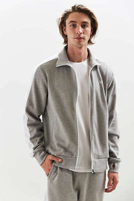 cec221d8 new mens L or XL sergio tacchini french terry track jacket grey/white $98