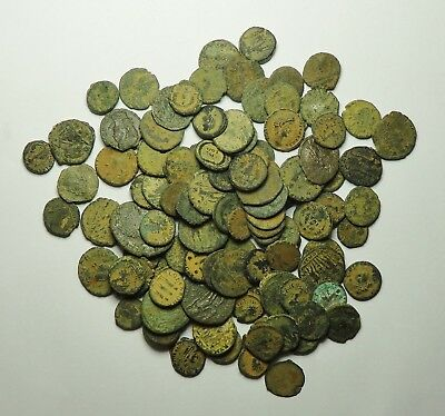 100 Small As Found Low Grade Roman Bronze Coins (854F)