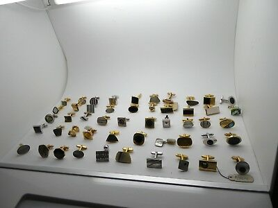 Job Lot 2 of ODD Vintage but new Cufflinks 50 in total - ideal for jewellers
