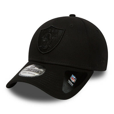 New Era Mens 39Thirty Baseball Cap.oakland Raiders Nfl Stretch Fit Black Hat 8W1