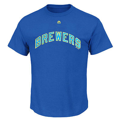 Milwaukee Brewers officially licenced Cooperstown MLB T shirt