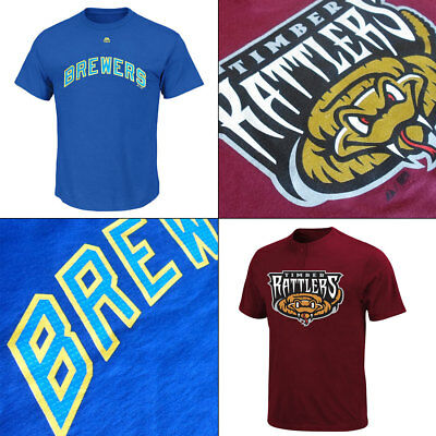 Milwaukee Brewers Adult Cooperstown MLB and Affiliate Rattlers MiLB T Shirts