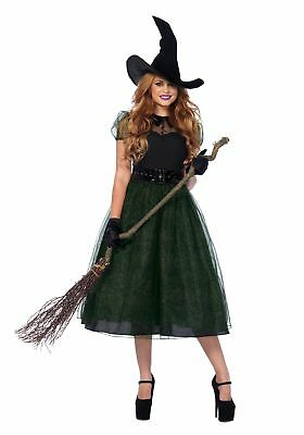 97500ff64d3 Leg Avenue Darling Spellcaster Vintage Witch Women s Halloween Costume SM-XL