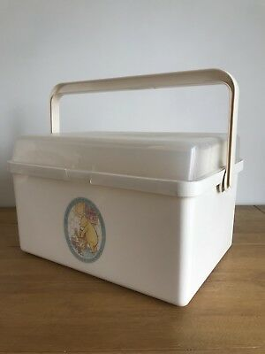 Vintage 1980 Mothercare baby changing /toiletry box Winnie The Pooh & Piglet
