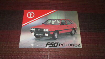 1990 Fso Polonez Sales Brochure From The U.k.