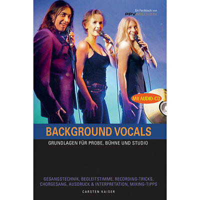 Lehrbuch PPVMedien Background Vocals Musik Buch NEU