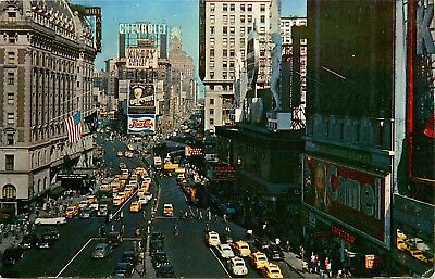 New York City, NY, Times Square, Unused Chrome Vintage Postcard d6432