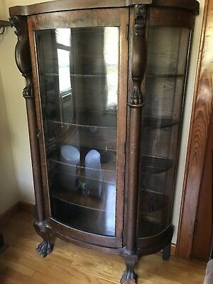 lion head china cabinet one owner used shipping tag still attached.