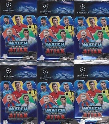 30 Karten match aTTaX Champions League 2016-2017 Bilder Beutel Topps 5 booster