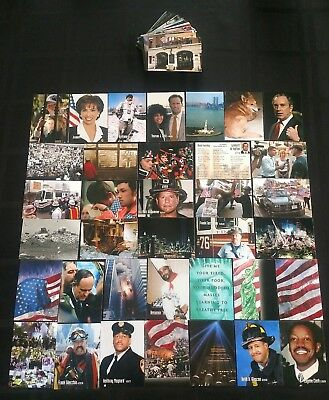 Lot of 100 Different Rare 9/11 World Trade Center Trading Cards Twin Towers