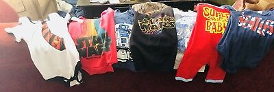 7 New Star Wars,Beatles etc Graphic Tees O-24 Mos.  Great Gift for Baby