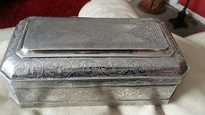 Antique Solid Silver Box 930 Grams Superb
