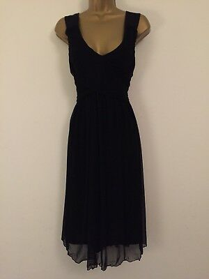 Next Size 12 Maternity LBD Tulle Overlay Dress in Black 3090