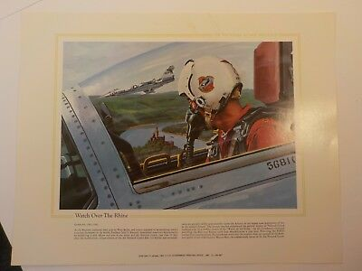 1988 Art Print Poster National Guard Heritage Fighter Plane Rhine Vietnam War