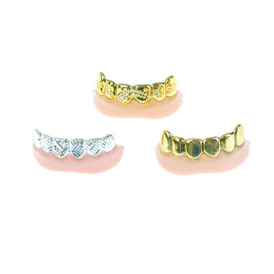 1pc Bling Grill Grillz Fake Teeth Bulk Halloween Birthday Party Gold Silver JKUS