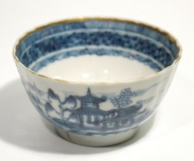 18th 19th Century Antique Painted Blue & White Chinese Porcelain Tea Bowl.