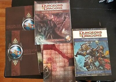 D&D 4th Edition 4E Player's Handbook PHB and Keep on the Shadowfell Adventure