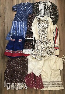 Vintage Prairie Handmade Cotton Kids Clothes Lot Boy Girl Embroidered