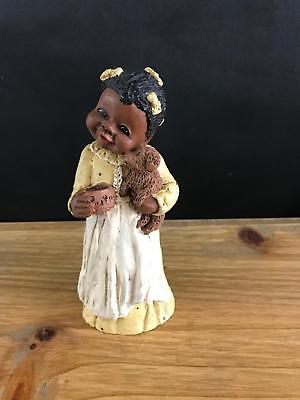 1987 All Gods Children Miss Martha Holcombe Figurine Becky God Is Love Puppy