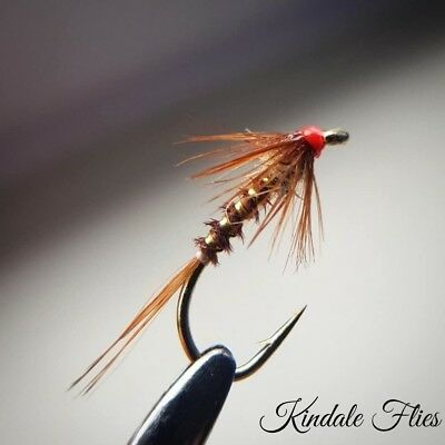 Set of 3 Hothead Pheasant Tail Cruncher size 10 Fly Fishing Flies buzzers