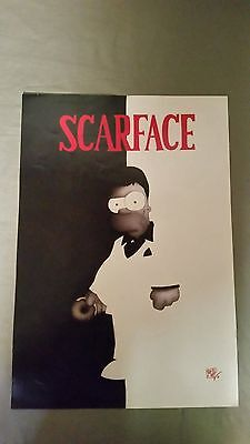 the simpsons poster homer scarface