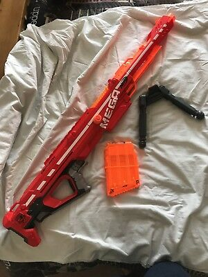 nerf gun mega centurion sniper rifle huge With 6 shot mag bullets + bipod
