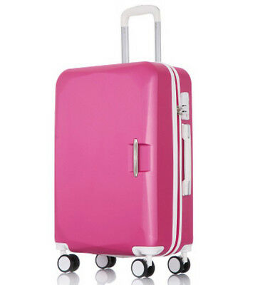 D863 Rose Red Universal Wheel ABS Coded Lock Travel Suitcase Luggage 22 Inches W