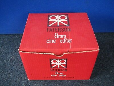 Paterson - Standard 8mm film Editor - FULL WORKING ORDER  1960's