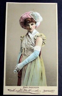 1800's Victorian Trade Card Dr Thomas Eclectric Oil H E Stewart N Petersburgh Ny
