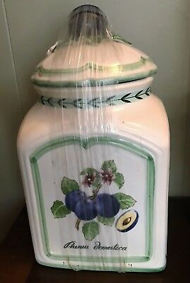 Viilleroy Boch Country Collection Canister French Garden Charm Prunus domestica