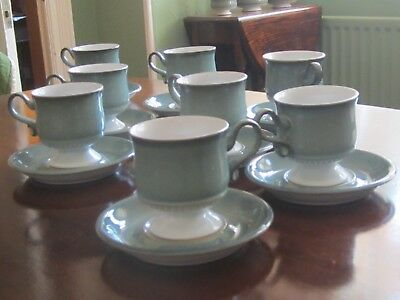 DENBY 'VENICE' Tea Service, 6 cups, saucers, plates, covered sugar & Milk jug.