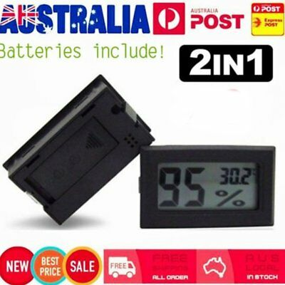 1X 2in1 LCD Digital Thermometer Hygrometer Humidity Temperature Meter&