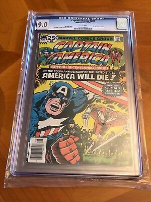 Captain America 200 (Aug, 1976, Marvel) CGC graded 9.0 White Pages