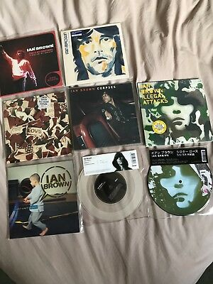 """Ian Brown Stone Roses 7"""" Record Collection Pic Discs Coloured Vinyl"""