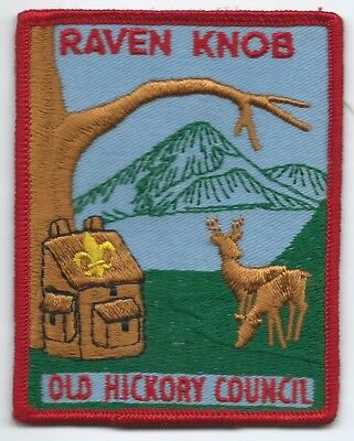 1966 Camp Raven Knob Deer/Cabin Patch, Old Hickory Council Wahissa Lodge 118 BSA