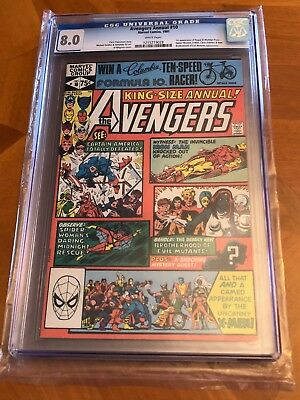Avengers Annual 10 (1981, Marvel) CGC graded 8.0 White Pages