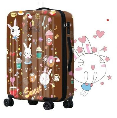 D263 Fashion Universal Wheel Coffee ABS+PC Travel Suitcase Luggage 24 Inches W