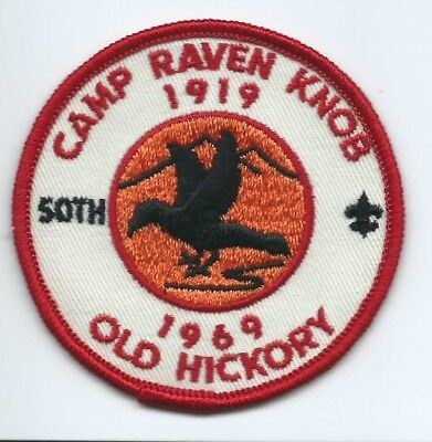 1969 Camp Raven Knob Patch, Old Hickory Council 50th Year Wahissa Lodge 118 BSA