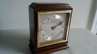 "Elliott Of London Mantle Clock. Retailed By "" Lister Horsfall Ltd Halifax """