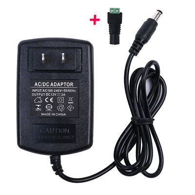 DC 12V 2A 24W Switching Power Supply Adapter For 110V- 220V AC 50/60Hz 2.1mm