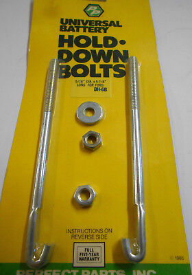 Battery Hold Down Bolts 5/16''-18 x 5-7/8'' Set of Two (2)